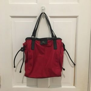 BURBERRY Red Nylon Packable Buckleigh Tote Purse